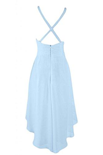 Sunvary elegante Hi-lo schiena-Cartamodello per abito da Cocktail, Prom Homecoming Gowns Light Sky Blue