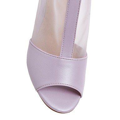 LvYuan Damen-Sandalen-Outddor Büro Lässig-PU-Blockabsatz-Andere-Blau Rosa Lila Beige Pink