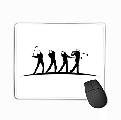 Mouse pad golf outdoor sport vector logo design inspiration player hits ball swing stick brand presentation visual steelseries keyboard