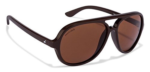 Fastrack UV Protected Square Men's Sunglasses - (P358BR1|57|Brown Color)