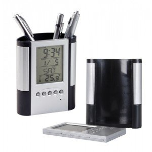 SOSA Digital Alarm Table Clock Pen Holder Calendar Stand  available at amazon for Rs.319