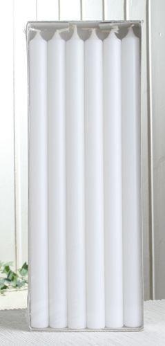 "12x Premium-Stabkerze \""Extralang\"", 35 x 2,2 cm Ø, weiß"