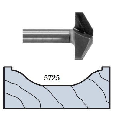 Preisvergleich Produktbild Whiteside Router Bits 5725 Ogee Panel Profile Bit with 1-1 / 2-Inch Large Diameter and 1 / 2-Inch Shank by Whiteside Router Bits