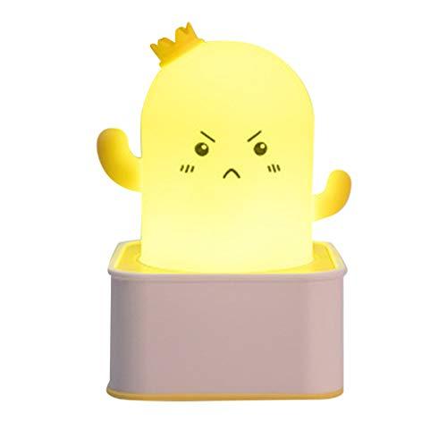 (TIREOW Mode Niedlichen Kaktus Form Nachtlicht Lampe Schlafzimmer Beleuchtung Lattern Mit Sensorsteuerung für Kinder Chidren Girl (Rosa))