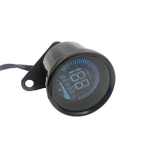 LCD Modifizierte Kleine Instrument Kilometerzähler Geschwindigkeitsmesser Ölzähler Für Motorrad (Galvanik/Schwarz)