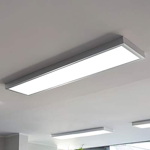 LED Panel LED-Deckenlampe inkl. Aufputzrahmen (120cm x 30cm) 36W 4000K Neutralweiß einfache und schnelle installation