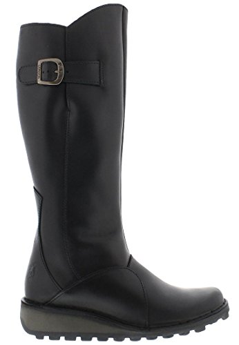 Fly London Damen Mol Leather Stiefel Schwarz