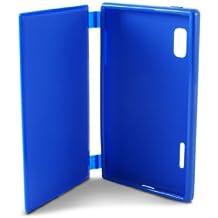 Ksix B4528FTT05 - Funda folio flexible para LG Optimus L5 E610, azul