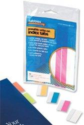 Concord Tabbies - Etiquetas separadoras adhesivas (38 mm), varios colores fluorescentes