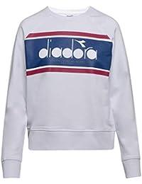Diadora - Felpa L. Sweatshirt Crew Spectra per Donna IT M a6d07b61f66