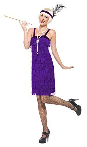 Smiffy's - 20er Jahre Charlestonkostüm Kostüm Charleston für Damen Fransenkleid ()