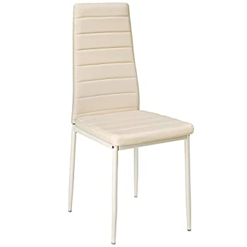 TecTake Set of Dining Chairs 41x45x98.5cm - different colours and quantities - (6x Beige | No. 401852)