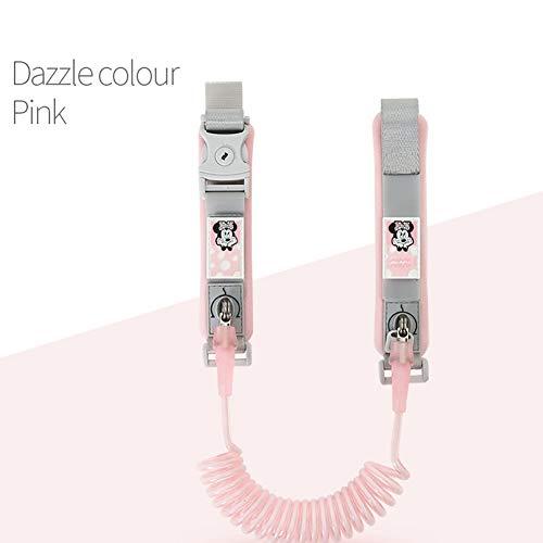 Kinder Zugseil Baby Anti-Lost Armband Anti-Lost Seil 1,8 Meter Kind Anti-Lost mit Blitz,Pink,1.8m -