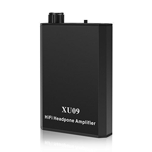 GHB Amplificador de Auriculares Portátil Adecuado para Smartphone Reproductor MP3 - Negro