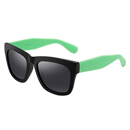Hipster Fahrspiegel Sonnenbrille Retro Mode polarisierte Sonnenbrille Brille (Color : C)