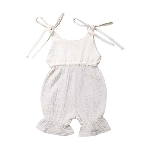Ärmelloser-Riemen-Für-Babys,Robe-Farbe-Candy-Siamesischer-Kletter-Overall,Sommer-Baby-Jungen-Mädchen-Solid-Body-Strampler-Outfits-Sunsuit,Stylish-Einzigartiger ()
