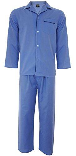 Best Deals Direct Mens Plain Poly Cotton Pyjamas Set Traditional Classic Cut