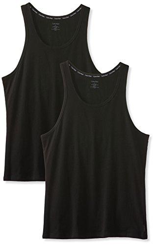 Calvin Klein Herren Top 2P TANK, Gr. Small, Schwarz (BLACK 001) -