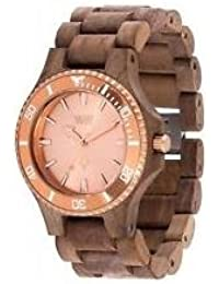 WeWood Herren-Holzuhr Date MB Nut Rough Rose Gold WW57003
