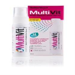 4 Pack of Gluten Free BetterYou Multivitamin Oral Spray 25 ML