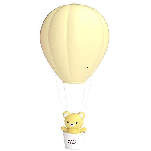 ZUZHEN Nachttischlampe Nachttischlampe Kreative Heißluftballonform Tischlampe Kann aufgeladen Werden LED-geeignet Für Schlafzimmer Nachttisch,Yellow