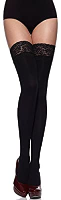 Merry Style Womens Hold Up Stockings Microfiber 40 DEN