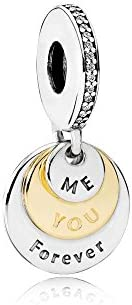 Pandora Women's You and Me Forever Dangle Charm - 791979CZ, Sterling Si