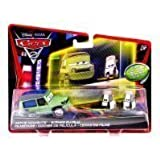 Disney Pixar Cars 2, Movie Moments Die-Cast, Miles Axlerod and Tokyo Party Staff, 3-Pack, 1:55 Scale by ToyCenter