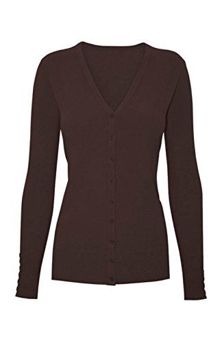 2luv-plus-womens-long-sleeve-v-neck-button-up-cardigan-dark-brown-xxxl-sw205-plus-size-lem-yellow