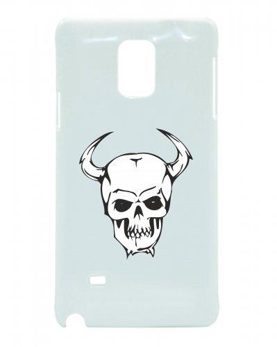 Smartphone Case teschio con corna sul lato Scheletro Rocker Frecce Club Gothic Biker Skull Emo Old School per Apple Iphone 4/4S, 5/5S, 5C, 6/6S, 7& Samsung Galaxy S4, S5, S6, S6Edge