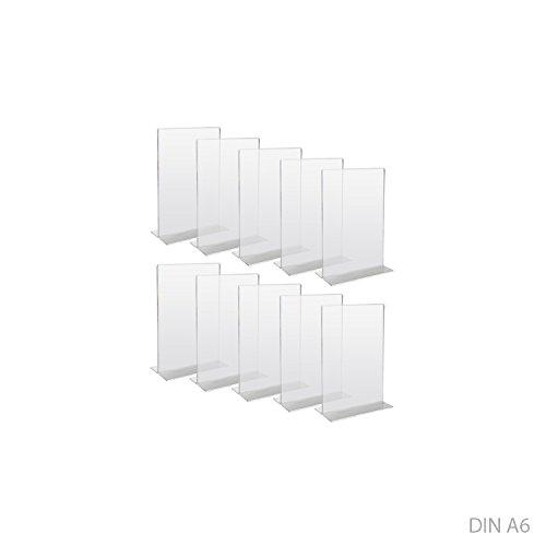 HMF 46920800,espositore da tavolo acrilico, porta menù DIN A6 10 pezzi