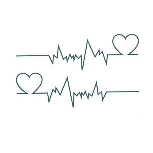 n temporär / Sticker - EKG Herz-Frequenz - Wasserfest ()