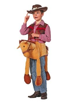 (Stekarneval Cowboy-Pferd Reittier Kostümzubehör für Kinder Hellbraun 128 (5-7 Jahre))