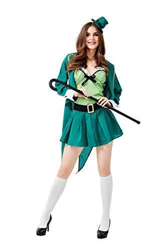 Fanessy. Jungen Mädchen Herren Damen Saint Patricks Leprechaun kostüm Kobold Kostüm Erwachsene Kinder Verkleidung Cosplay Outfit für Fasching Halloween Karneval - Saint Kostüm Für Erwachsene