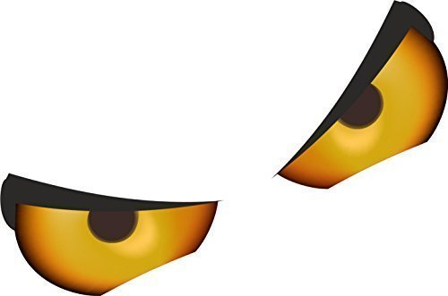 Auge-verschluss (Paar Von Bösartig Augen Motiv Für Motorrad Helm etc. Lustiger Ratten verschluss Vinyl Auto Aufkleberbombe Aufkleber 55x40mm jede Ca.)