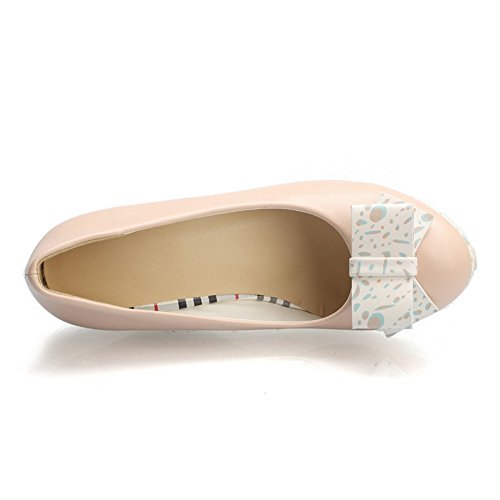 Adee Mesdames Cale Plateforme polyuréthane Pompes Chaussures Rose