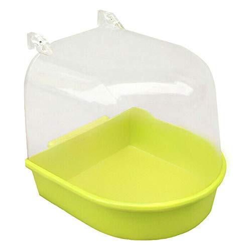 Vipithy Vogel-Wasserbad für Haustierkäfig-hängende Schüssel Papageien Sittich Birdbath ath ?Gelb (Afrikanischen Für Vogel Käfige Grau)