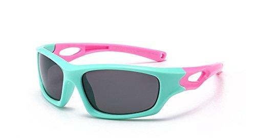 DING-GLASSES Sonnenbrille Kindersport Brillenzubehör Kindersport Sonnenbrillen Polarisierte Jungen Mädchen Anti UVA Sonnenbrille TR90 Infant Goggle (Color : C3)