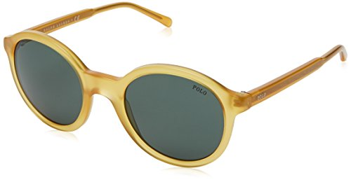 Polo Ralph Lauren Damen 0Ph4112 500571 50 Sonnenbrille, Gold (Hey/Green)