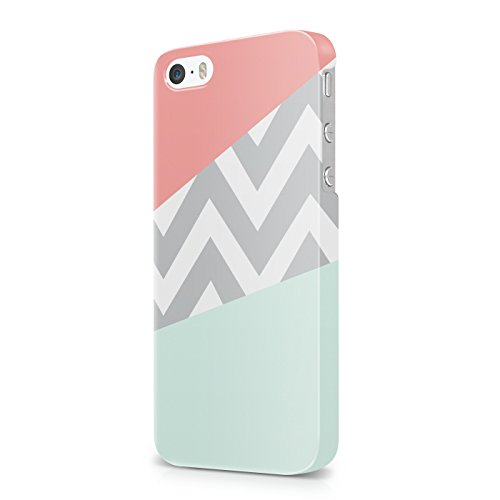 mint-and-coral-pink-chevron-block-hard-snap-on-protective-case-cover-for-iphone-5-iphone-5s