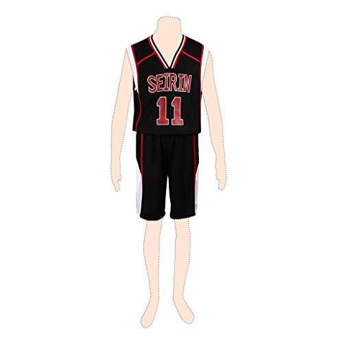 Basketball Kid Kostüm - Dream2Reality Kuroko's Basketball Cosplay Kostuem Kuroko Tetsuya Ver.2 Seirin Team No.11 Black Kid Small