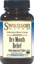 Swanson Ultra Dry Mouth Relief (60 Chewable Tablets)