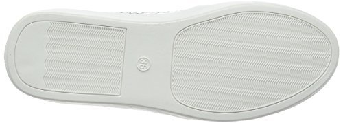 La Strada Silver Cracked Leather Look Slip-on, Espadrilles femme Argent - Silber (1442 - cracked silver)