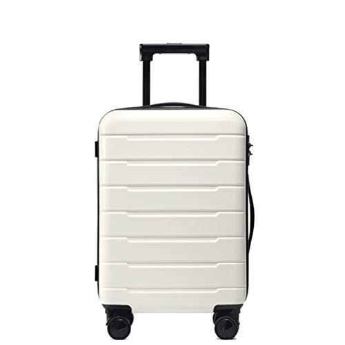 TYUIO Gepäckset Trolley Spinner Leichter, langlebiger Koffer Hardshell (Farbe : Weiß, größe : 20 Inches)