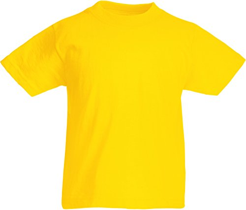 Fruit of the Loom Valueweight T Sonnenblumengelb 164