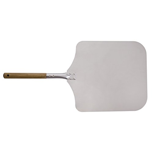 Innoecom Creations Aluminium Pizzaschaufel Pizzaschieber Auch verwendbar Zum Ofenbrotbacken mit großzügiger Auflagefläche (40 x 35 cm) Gesamtlänge 70 cm