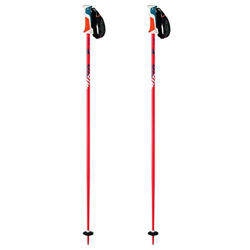Atomic, AJ5005250115, Unisexe 1 Paire de Bâtons de Ski de Course, Pour les Pistes, Longueur 115 cm, Poignée AMT, REDSTER 12 XT, Orange