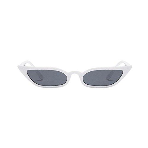 Damen Mode Klassische Sonnenbrille Frauen Trendy Vintage Small Frame Katzenauge Sonnenbrille Retro Kleiner Rahmen UV400 Brillenmode Retro Vintage Cat Eye Brillenmode Sunglasses Nachtsichtbrille