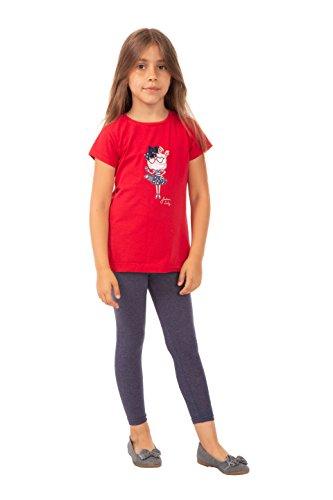 BeLady Polainas Niñas Leggings Largos Longitud del Cubo Algodón Opaco Pantalones 2-12 Años (12 años - 152 cm, Jeans)