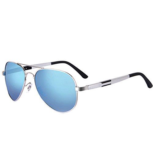 FEIDU Herren Sonnenbrille blau c5